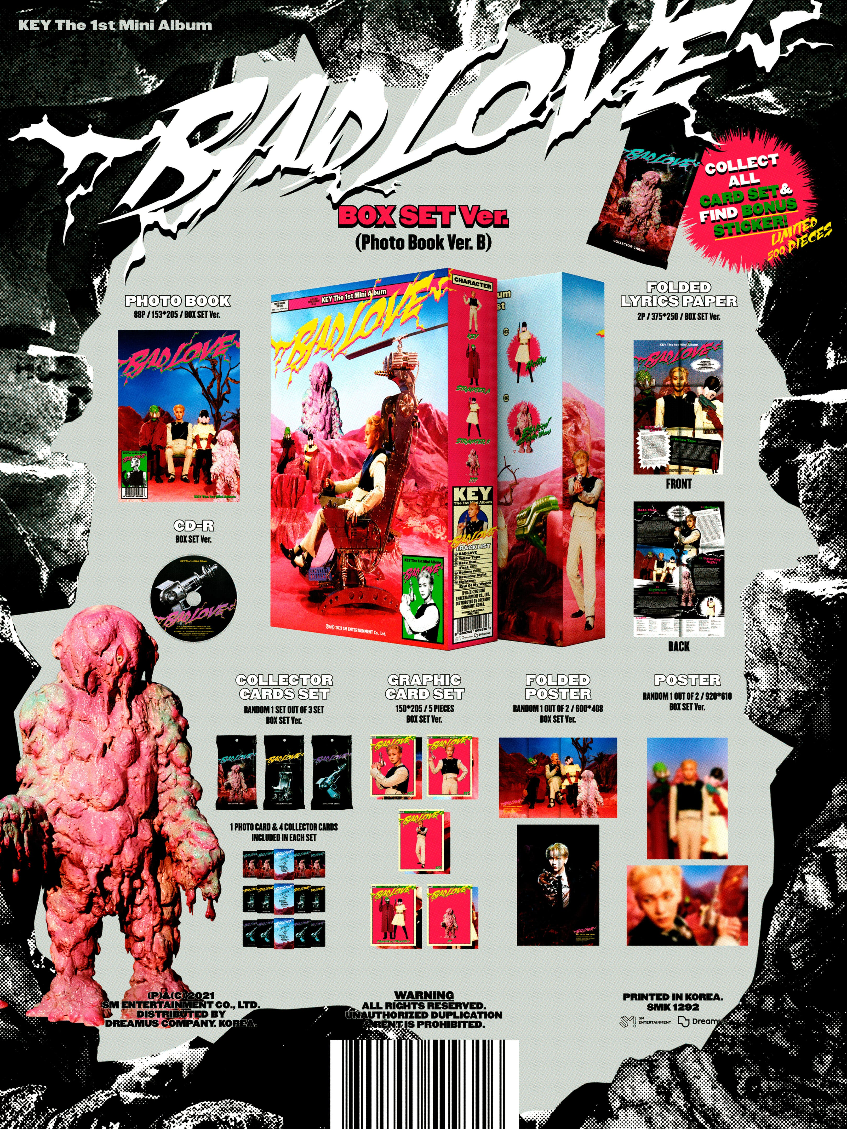 KEY - BAD LOVE (BOX SET Ver.) - 1st Mini Album