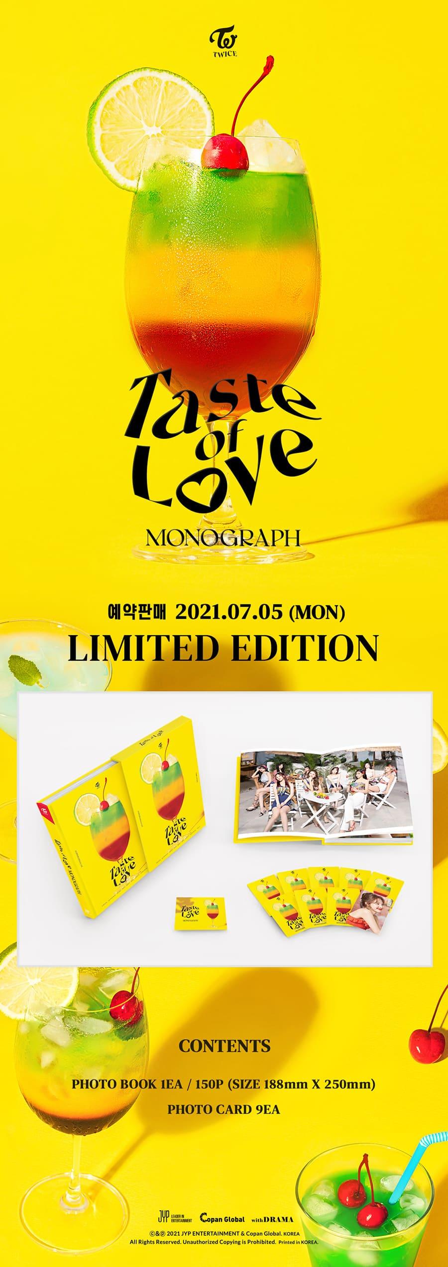 TWICE - TWICE MONOGRAPH Taste of Love - Photobook